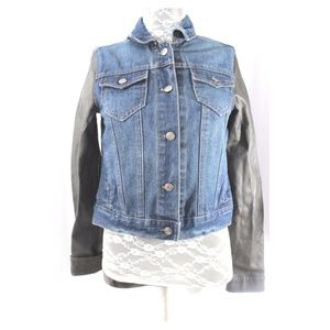 Jean Jacket Rue 21 Faux Leather Size Small